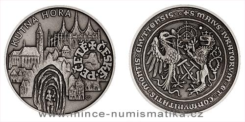 Stříbrná medaile České pečetě - Kutná Hora