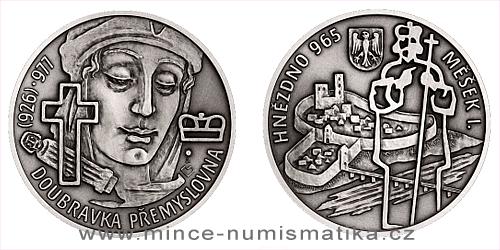 Stříbrná medaile Slavné nevěsty - Doubravka Přemyslovna