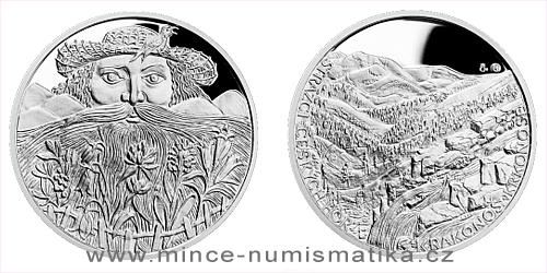 Stříbrná medaile Strážci českých hor - Krkonoše a Krakonoš