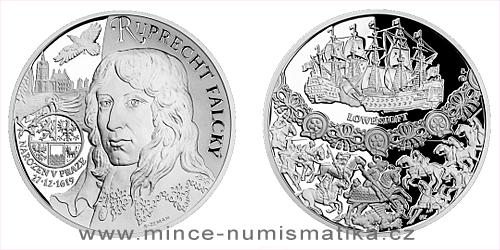 Stříbrná medaile Dějiny válečnictví - Ruprecht Falcký - Vévoda z Cumberlandu