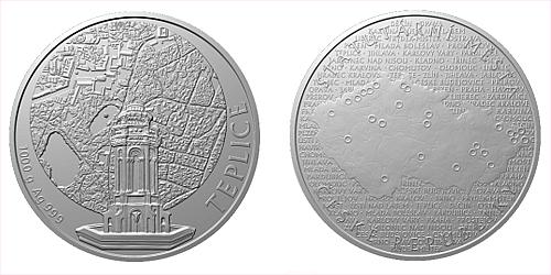 Stříbrná kilová investiční medaile Statutární město Teplice