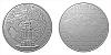 Stříbrná půlkilová investiční medaile Statutární město Teplice