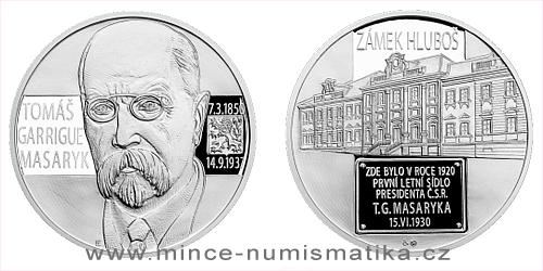 Stříbrná medaile Letní sídlo T.G. Masaryka - Zámek Hluboš