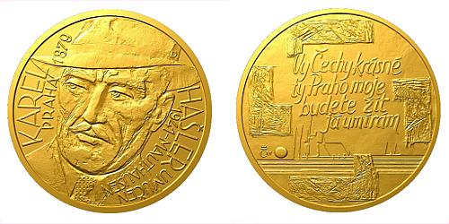 Zlatý dukát Národní hrdinové - Karel Hašler