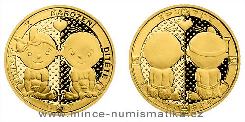 Zlatý dukát k narození dítěte 2021