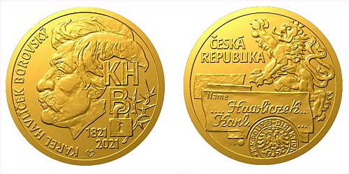Zlatá půluncová medaile Karel Havlíček Borovský