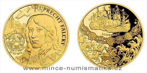 Zlatá uncová medaile Dějiny válečnictví - Ruprecht Falcký - Vévoda z Cumberlandu