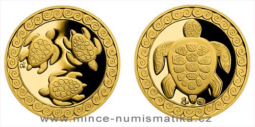 Zlatá medaile Želva - symbol dlouhověkosti