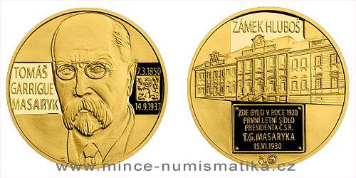 Zlatá medaile Letní sídlo T. G. Masaryka - Zámek Hluboš