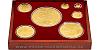 Sada zlatých mincí Český lev 2021 - 1/25, 1/4, 1/2, 1, 5, 10 oz, 1kg