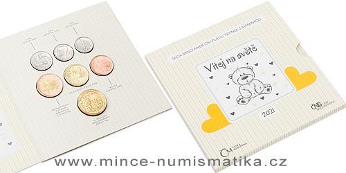 Sada oběžných mincí ČR 2021 - Narození dítěte