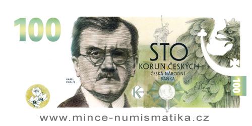 100 Kč vzor 2022 - Budování československé měny - Karel Engliš