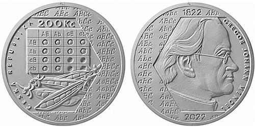 200 Kč - 200. výročí narození - Gregor Johann Mendel