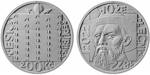 200 Kč - 150. výročí narození - Jože Plečnik