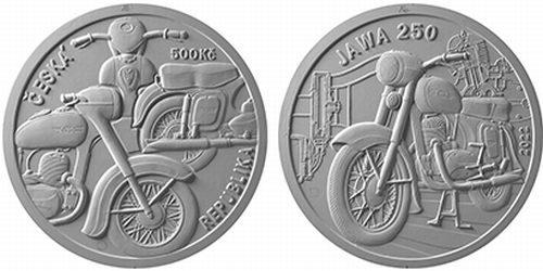 500 Kč Motocykl Jawa 250
