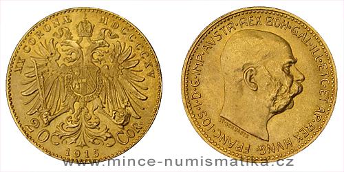 20 koruna 1915