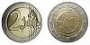 2 € - 10. výročí Hospodářské a měnové unie