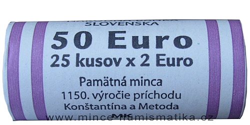 2_eura_2013_Konstanitn_a_Metodej_Slovensko_mince_rulicka