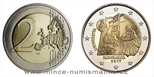 2 € - 550. výročie začatie činnosti Univerzity Istropolitany