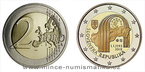 2 € - 25. výročie - Vznik Slovenskej republiky