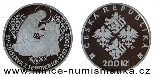200 Kč - 750. výročí úmrtí sv. Zdislavy z Lamberka