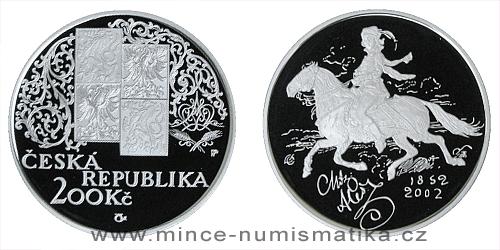 200 Kč - 150. výročí narození Mikoláše Alše