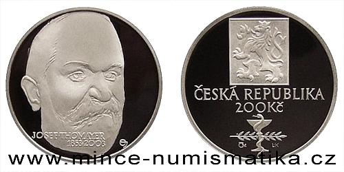 200 Kč - 150. výročí narození Josefa Thomayera