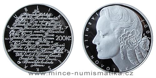 200 Kč - 100. výročí narození Jarmily Novotné