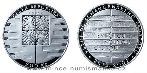 200 Kč - Vstup České republiky do schengenského prostoru