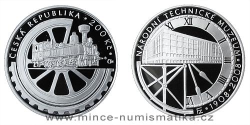 200 Kč - 100. výročí založení Národního technického muzea