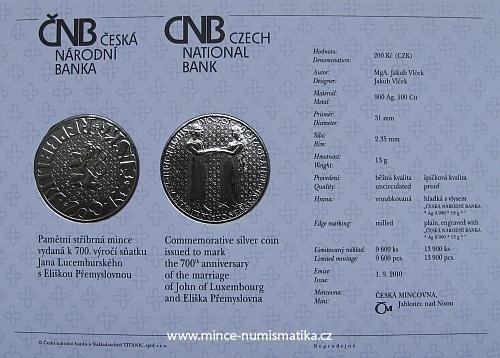 75_2010_Nastup_Lucemburku_na_trun_katalogova_karta