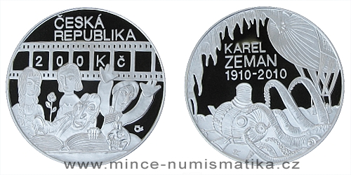 200 Kč - 100. výročí narození Karla Zemana