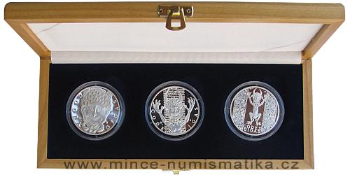 Codex Gigas - sada stříbrných medailonů