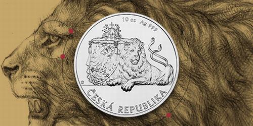 Stříbrná kilogramová investiční mince Český lev 2019