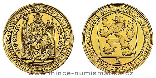 2 dukát Karel IV. 1978