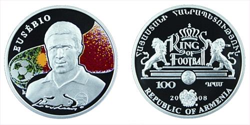 2008 - 100 Dram - Kings of football - Eusebio (Ag)