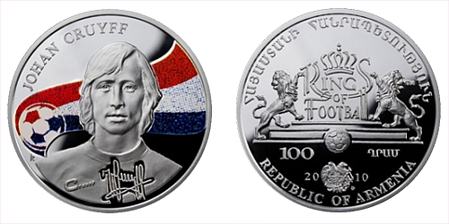 2010 - 100 Dram - Kings of football - Johan Cruyff (Ag)
