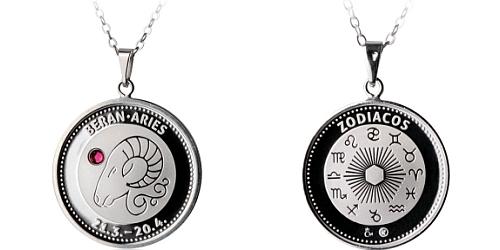 Stříbrný medailonek Znamení zvěrokruhu - Beran ( 21.3. - 20.4. )