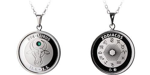 Stříbrný medailonek Znamení zvěrokruhu - Býk ( 21.4. - 20.5.)