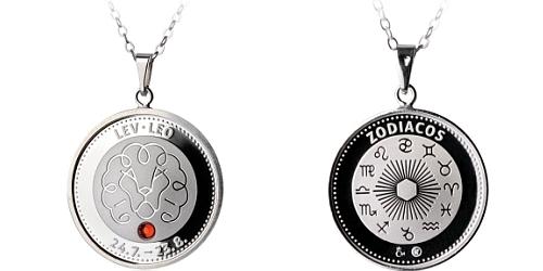 Stříbrný medailonek Znamení zvěrokruhu - Lev ( 23.7. - 23.8. )