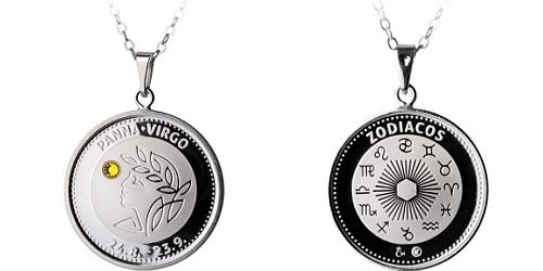 Stříbrný medailonek Znamení zvěrokruhu - Panna ( 24.8. - 23.9. )