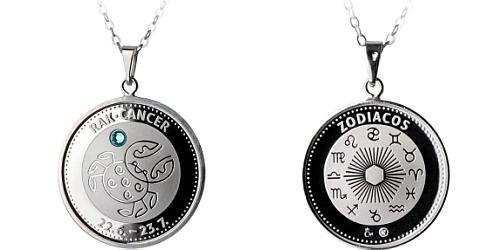 Stříbrný medailonek Znamení zvěrokruhu - Rak ( 22.6. - 22.7. )