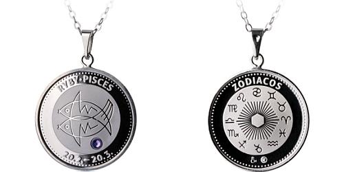 Stříbrný medailonek Znamení zvěrokruhu - Ryby ( 21.2. - 20.3. )
