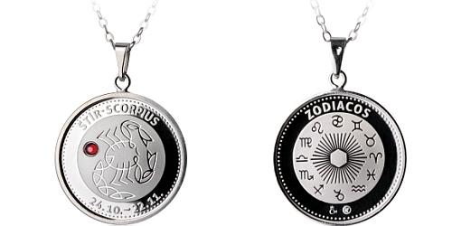 Stříbrný medailonek Znamení zvěrokruhu - Štír ( 24.10. - 22.11. )