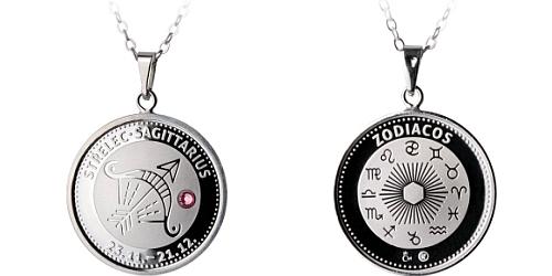 Stříbrný medailonek Znamení zvěrokruhu - Střelec ( 23.11.-21.12. )