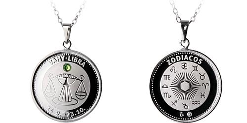 Stříbrný medailonek Znamení zvěrokruhu - Váhy ( 23.9. - 23.10. )