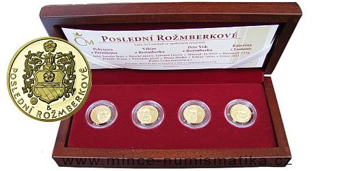 Poslední Rožmberkové (Petr Vok, Vilém z Rožmberka, Kateřina z Ludanic, Polyxena z Pernštejna) Au
