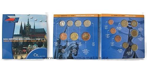 Sada oběžných mincí ČR 2006 včetně návrhu EURO mincí