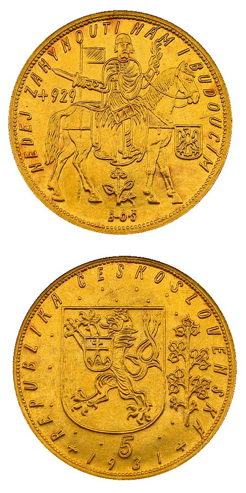 Svatovaclavsky_5_dukat_1931_Au_mince