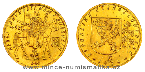 Svatováclavský 5 dukát 1929 - 1938